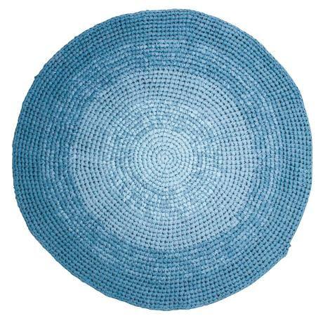 Häkelteppich, gradient blau Fußmatte, Teppich