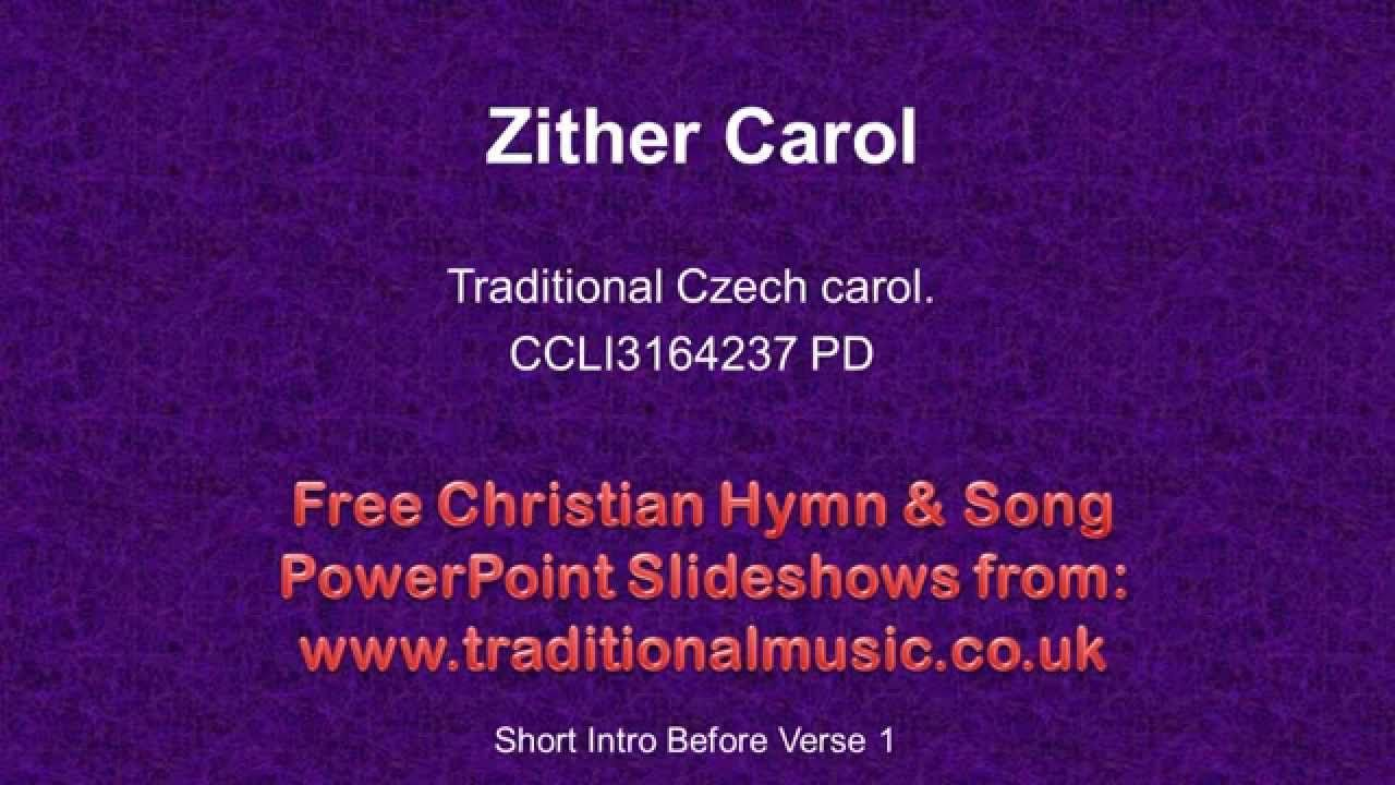 Christmas Hymn Lyrics & Music- Zither Carol. | Musical Mayhem ...