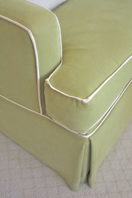 Contrast Flange Fabric Upholstery Chair Slipcovers