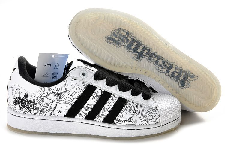 detailed look 847d4 e1c4e Adidas Superstar Graffiti Las Vegas Lovers shoes White Black