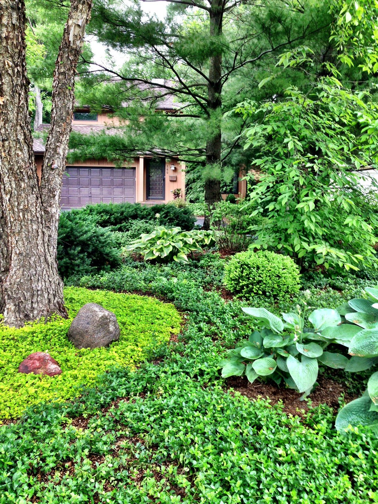 Such a Zen front yard! Designed by American Gardens ... on Zen Front Yard Ideas id=75966
