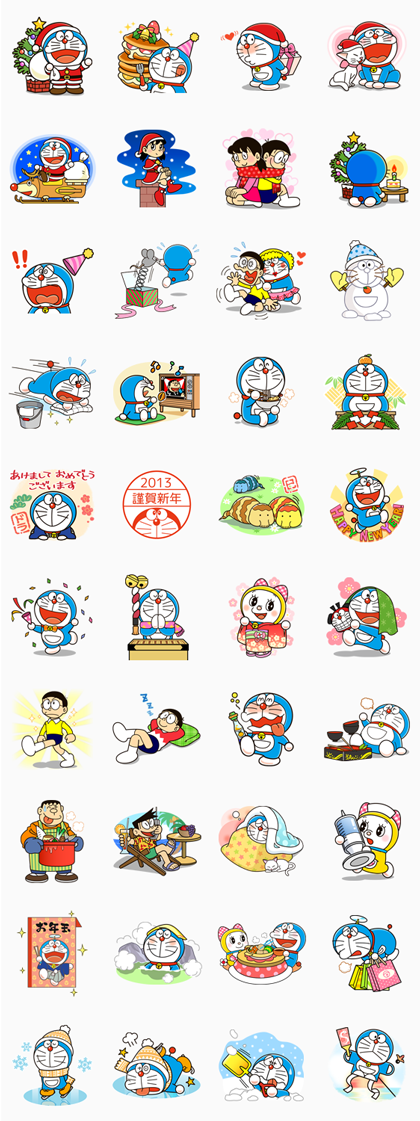 Doraemon Animated Stickers Sticker for LINE, WhatsApp, Telegram — Android, iPhone iOS