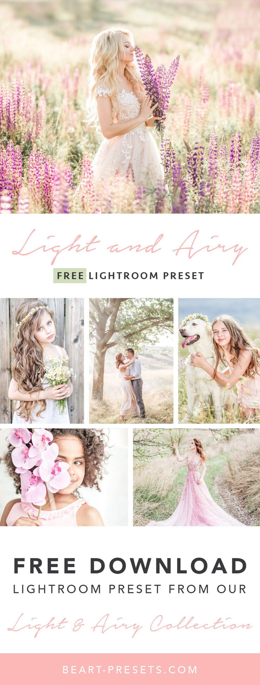 Free Light & Airy Lightroom Preset in 2020 Best free