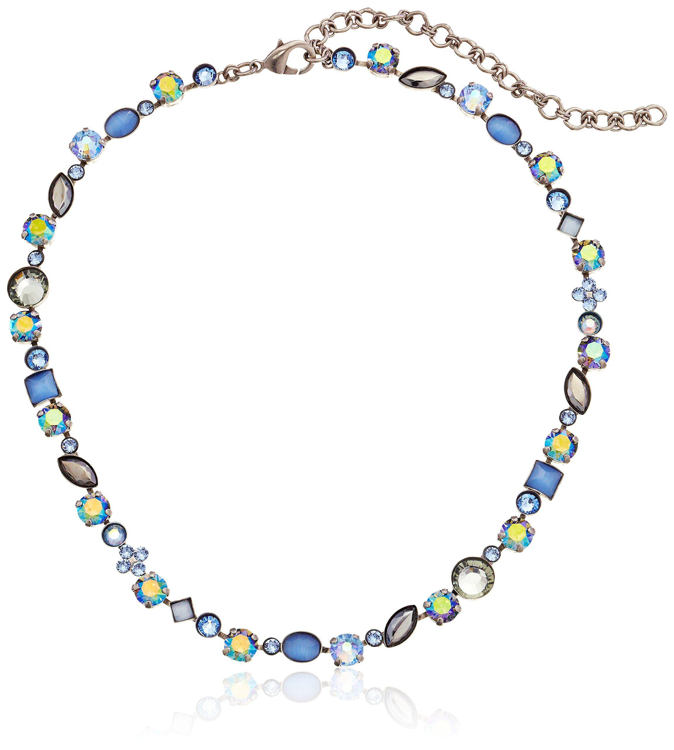 "Amazon.com: Sorrelli ""Sky Blue Peach"" Classic Tee-Shirt Necklace, 15.25"" + 4""extender: Jewelry"