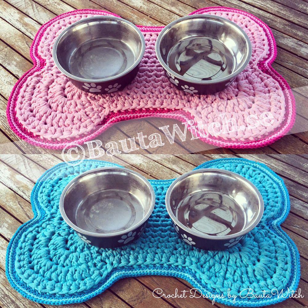 Crochet Dog Bowl Mat Pattern Free Tutorial Dog Bowl Mat Dog Bowls Diy Dog Collar