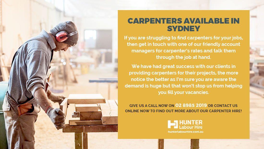 Carpenter Jobs in Sydney Hunter Labour Hire Jobs