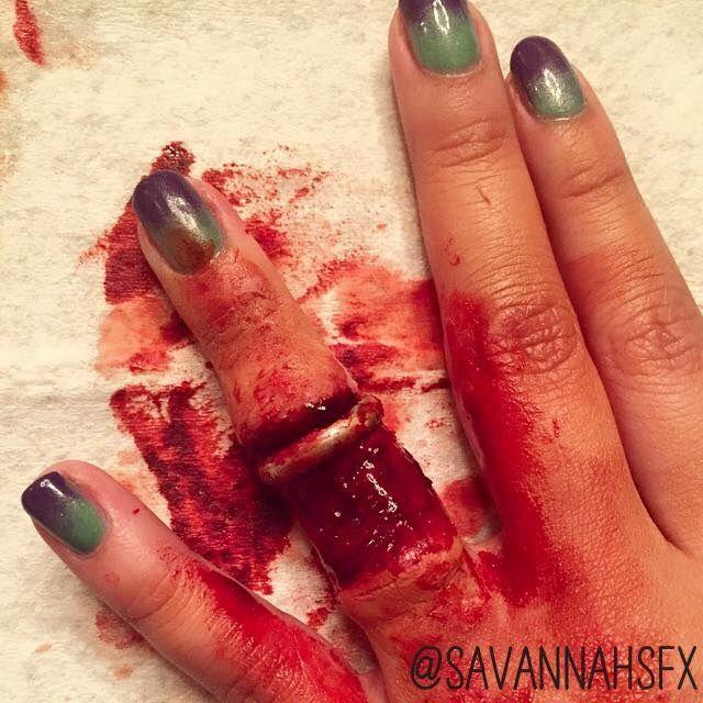 ring avulsion savannahsfx sfx makeup pinterest