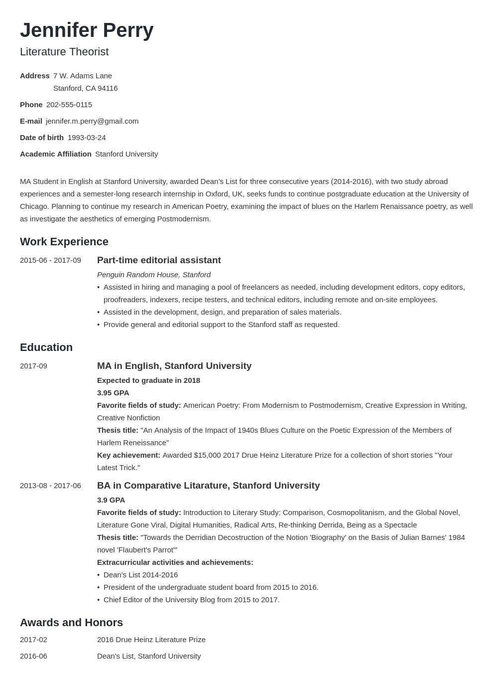 Scholarship Resume Example Template Minimo Resume Examples Job Resume Examples Basic Resume