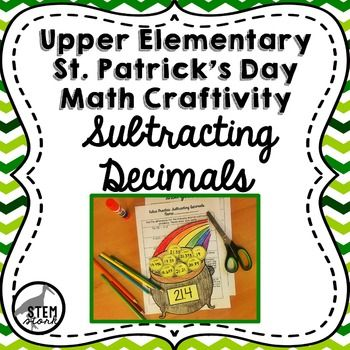 Such a fun way to celebrate St. Patrick's Day while still practicing important math skills!  This activity makes a gorgeous classroom display where each student has a unique pot of gold!  Super easy to prep--just print and go!