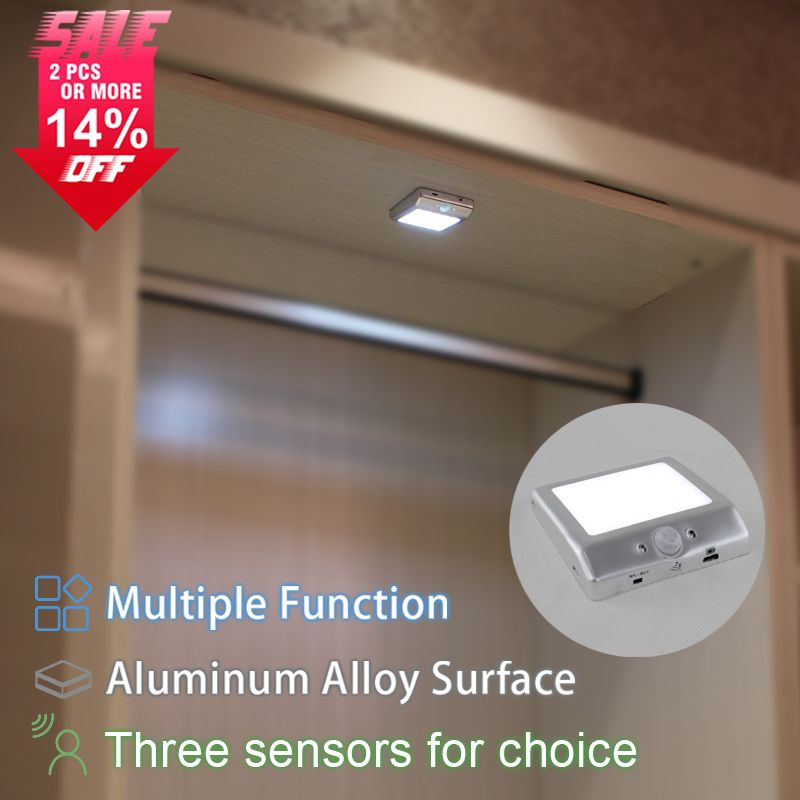 Attrayant New Rechargeable Showcase 2W Wireless Led Wardrobe Night Lighting Battery Closet  Light Motion Sensor Portable Cabinet Light