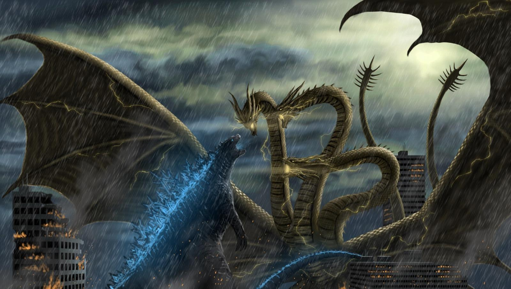 Godzilla (2019) vs King Ghidorah (2019) by MissSaber444 on