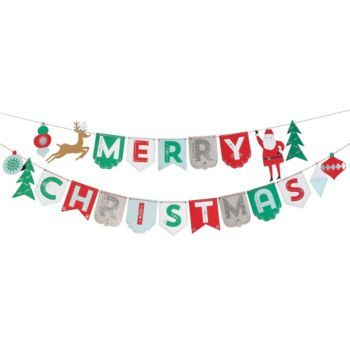 This Christmas party garland is easy to assemble and wonderfully