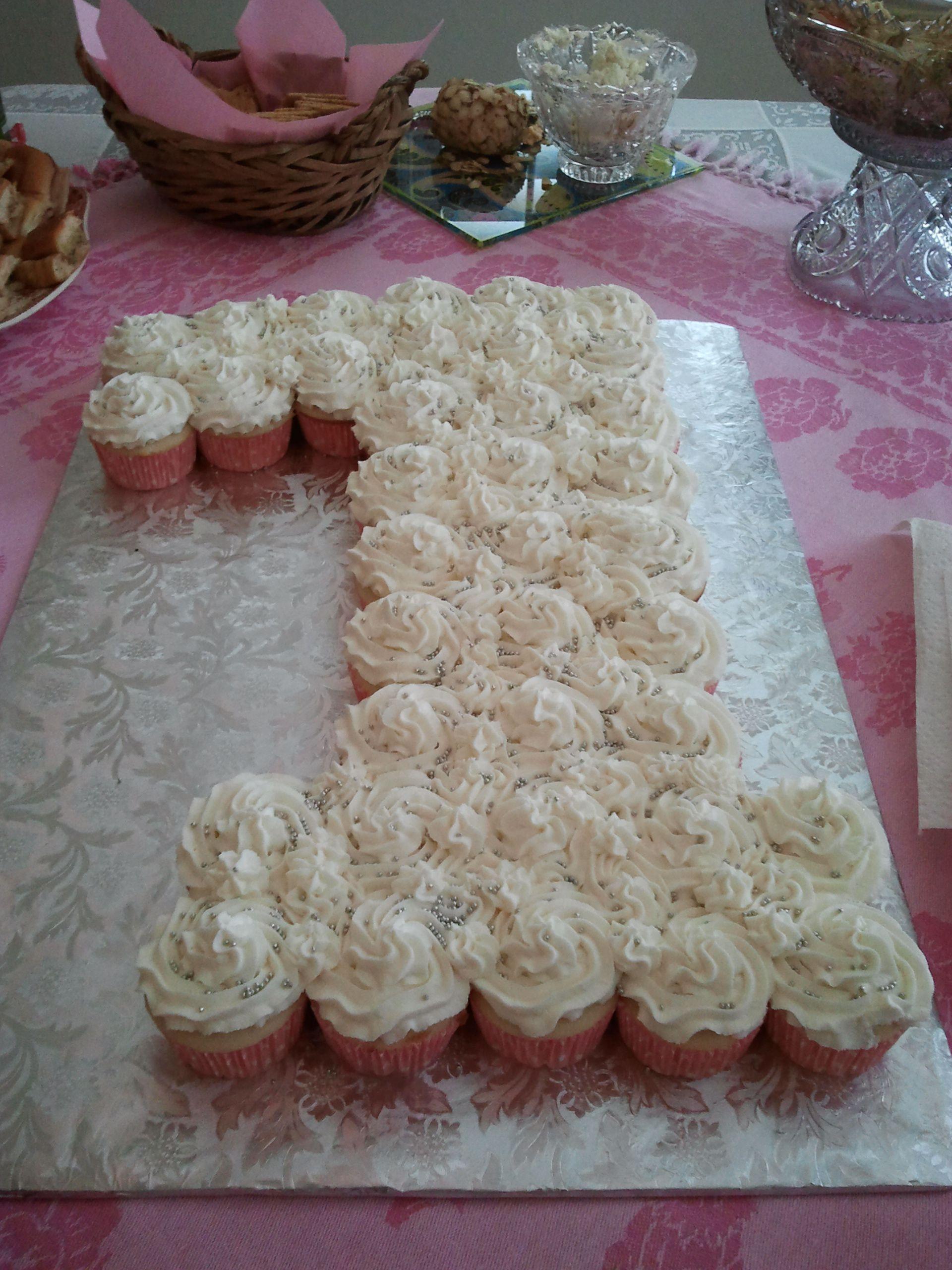 1st Birthday Cupcake Cake Birthday cakes Pinterest Birthdays