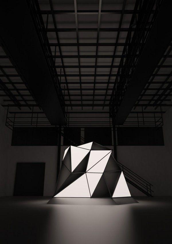 Light Form, una instalación interactiva de Mathieu River.