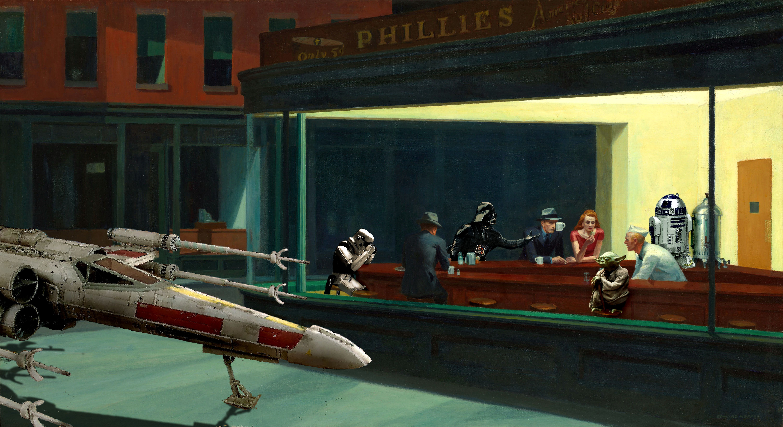 Nighthawks Star Wars Edition 6000 X 3274 Wallpapers