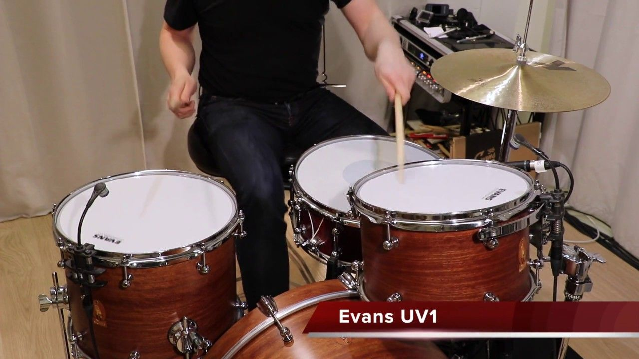 Evans Remo Aquarian Tom Head Comparison By Kai Jokiaho How To Play Drums Double Bass Drum Lessons