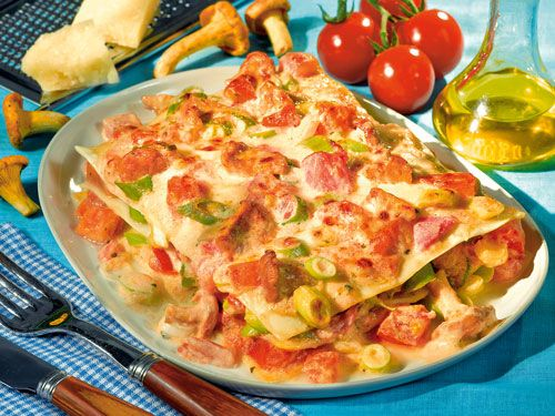 schnelle pfifferlings lasagne rezept rezepte