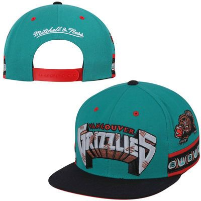 Men S Vancouver Grizzlies Mitchell Ness Turquoise Hardwood Classics Short Snapback Hat Snapback Hats Snapback Hats