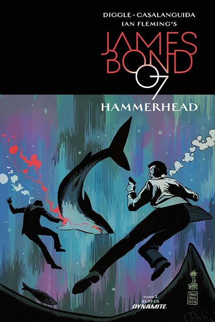 James Bond - The Secret Agent: Complete set of HAMMERHEAD comic covers
