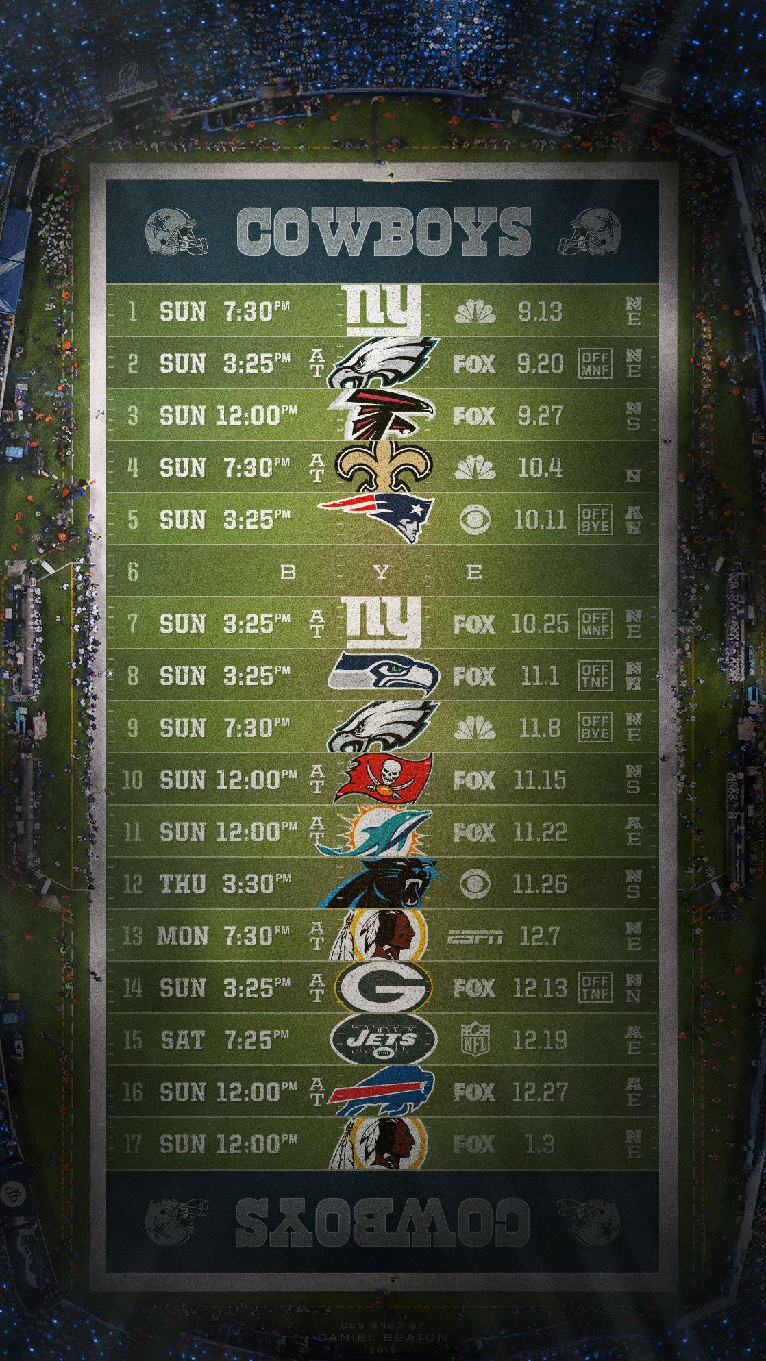 Dallas Cowboys Schedule Wallpaper Free Download