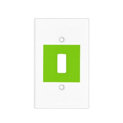 Home Decor Yellow Green Light Switch Cover by Janz