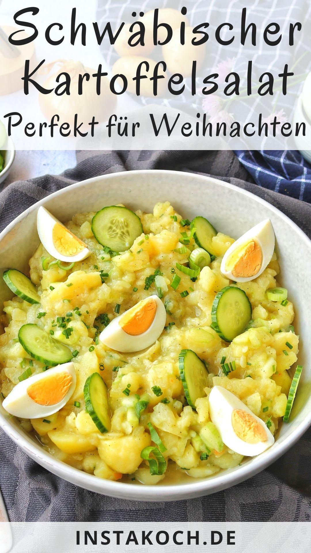 Schwäbischer Kartoffelsalat - Einfach lecker kalorienarm #dishesfordinner