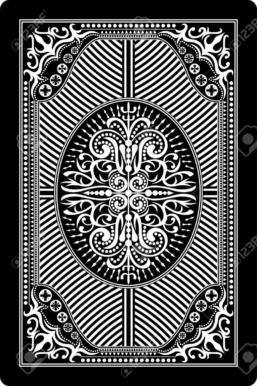 Playing Card Back Side 60x90 Mm Royalty Free Cliparts ...