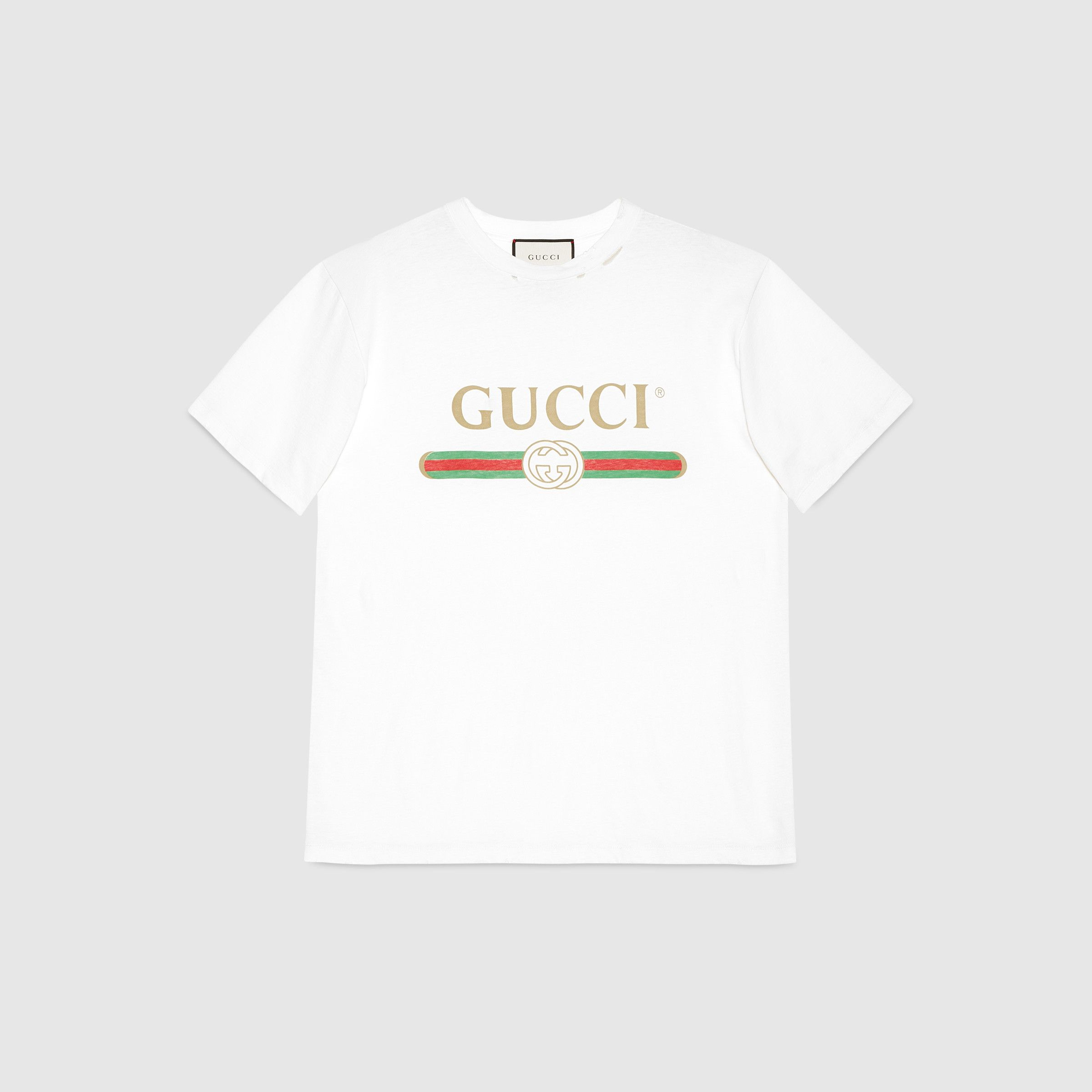 c0ab7691a Oversize T-shirt with Gucci logo | my style | Gucci shirts, Gucci t ...
