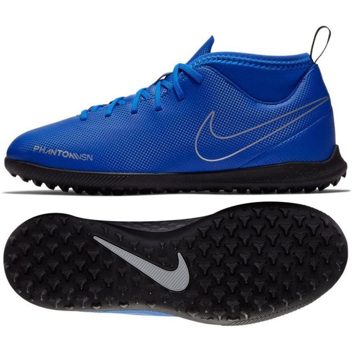 Football Shoes Nike Phantom Vsn Club Df Tf Jr Ao3294 400 Blue Multicolored Football Shoes Nike Football Outfits