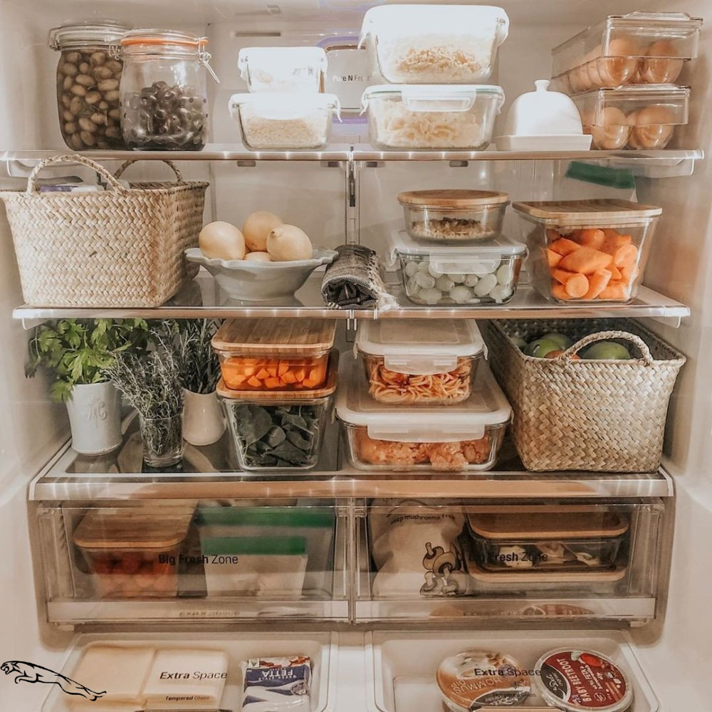 10 fridge organization ideas. Find ideas for fridge organization like containers, baskets, and more to ke #fridgeorganization