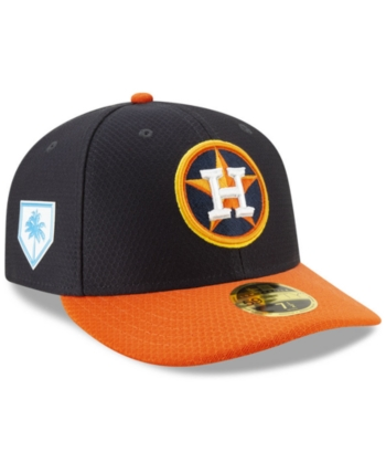 98e303c165a3e2 New Era Houston Astros Spring Training 59FIFTY-fitted Low Profile Cap -  Navy/Orange 7 1/8