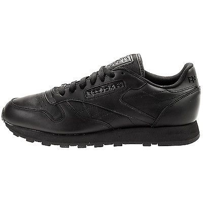 reebok classic leather mens j90119 black athletic shoes
