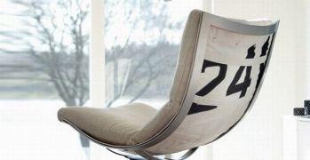 Recycled sailcloth cushion