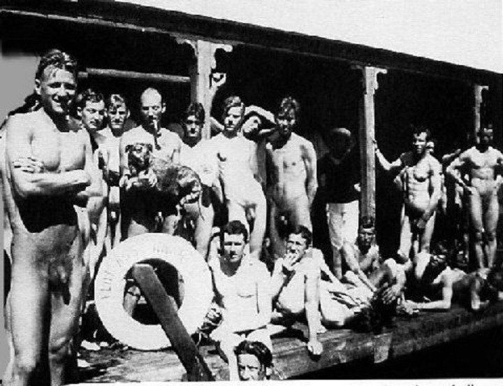 Vintagemusclemen Flottans Badhus Floating Bathhouse