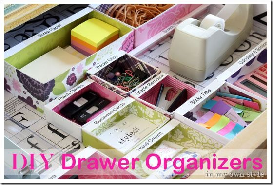 Diy Drawer Organizers Made From Small Bo And Labels