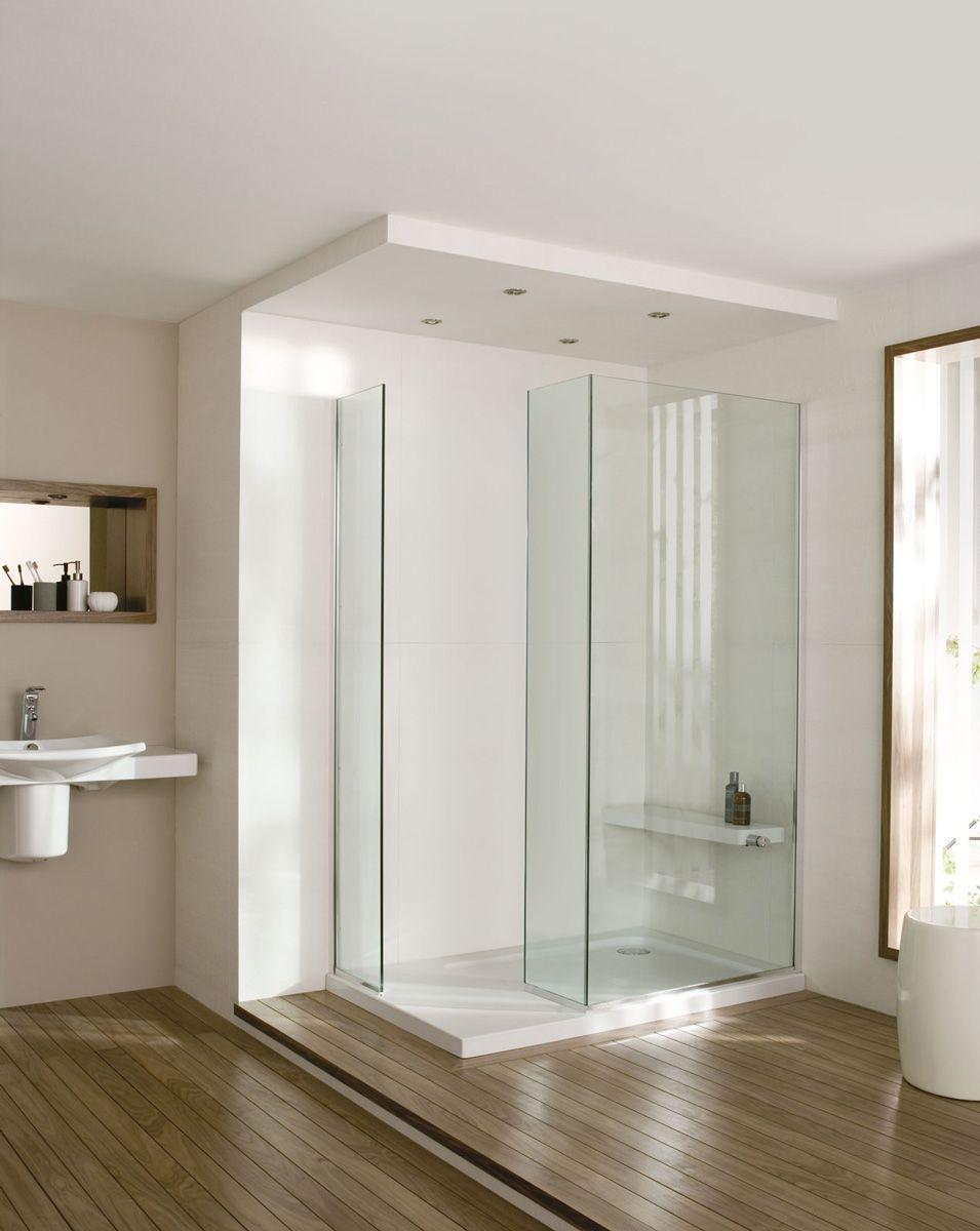 Parois de douche minima rectangulaire de jacob delafon for Parois de douche en verre