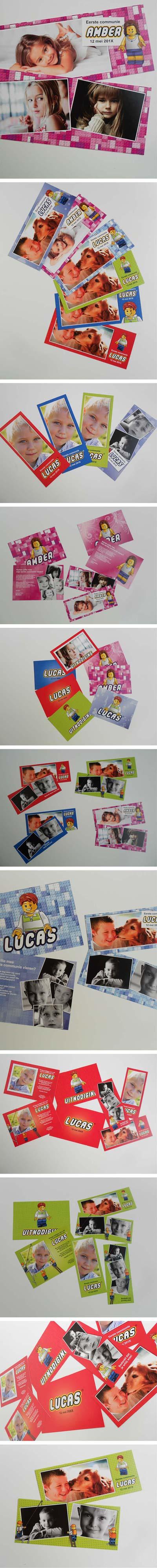 #Lego #communiekaarten. Bezorg foto's en tekst. Wij maken de #communiekaartjes. Proef via e-mail. Na goedkeuring leveren we drukwerk.  http://www.kaartencollectie.be/nl/communiekaart-lego-1030.htm