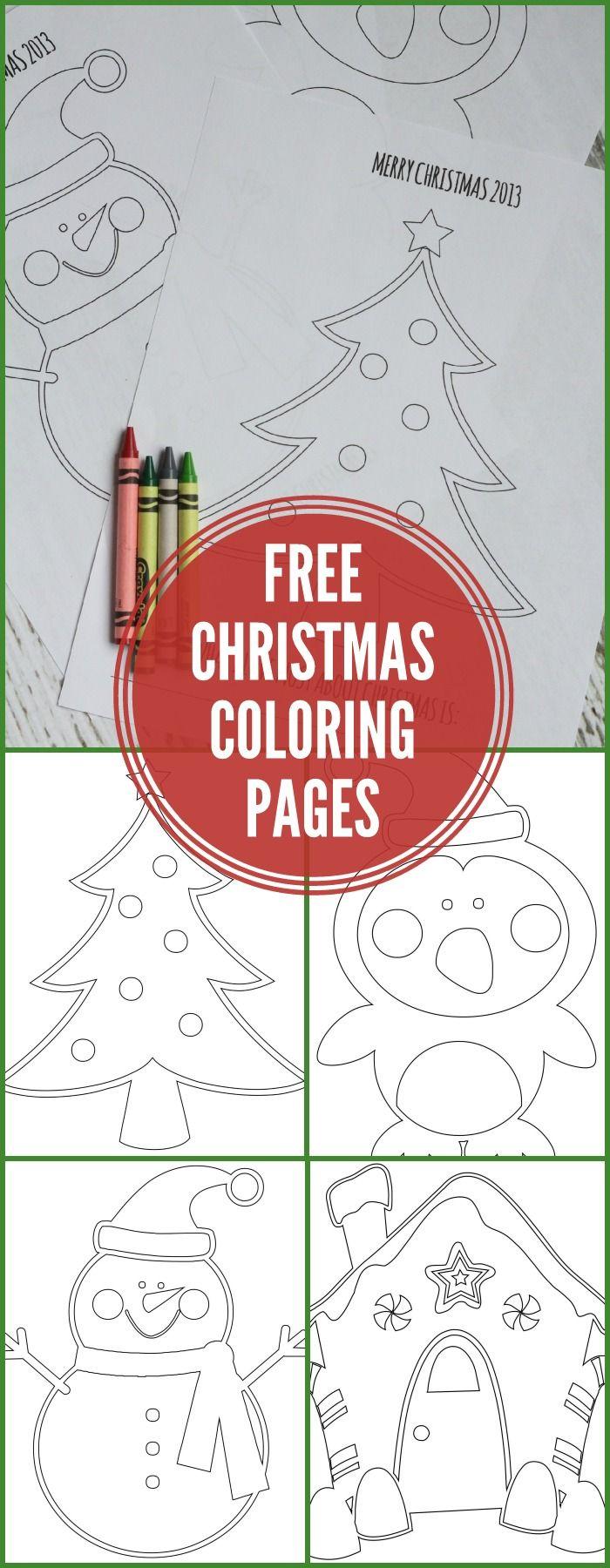FREE Christmas Coloring Pages on { lilluna.com } | Kleurplaten kids ...