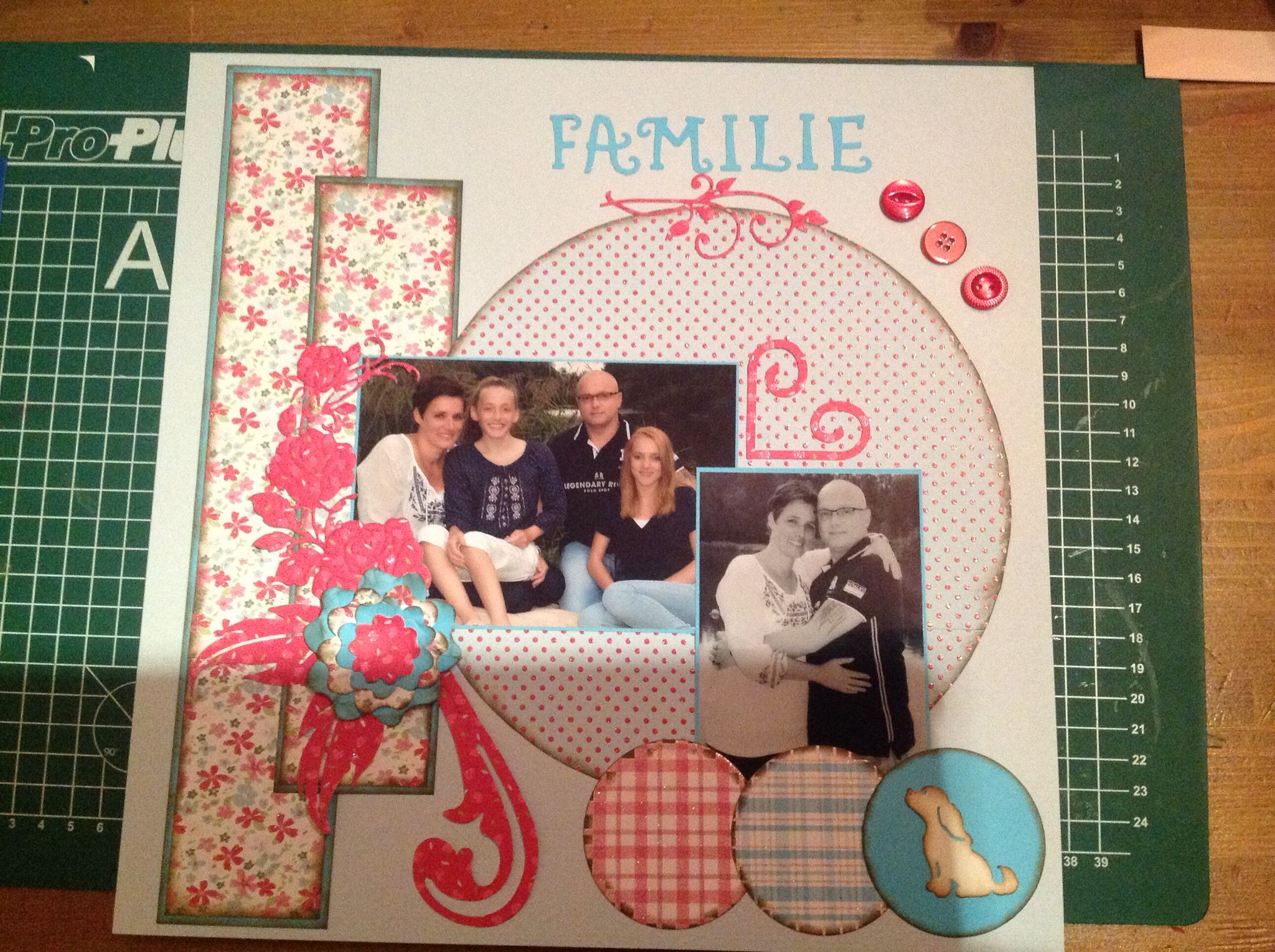 Scrap layout familie