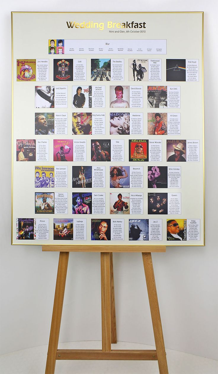 Google themes music - Album Cover Table Numbers Google Search Music Wedding Themesmusic