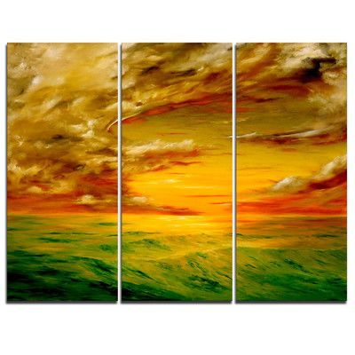 DesignArt Santa Rosa California - 3 Piece Graphic Art on Wrapped Canvas Set