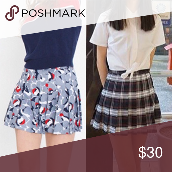 ISO printed tennis skirts LOOKING FOR the new floral print tennis skirt from their spring collection and their plaid printed tennis skirt in the Vivian Plaid print! Size medium preferred :) American Apparel Skirts Mini