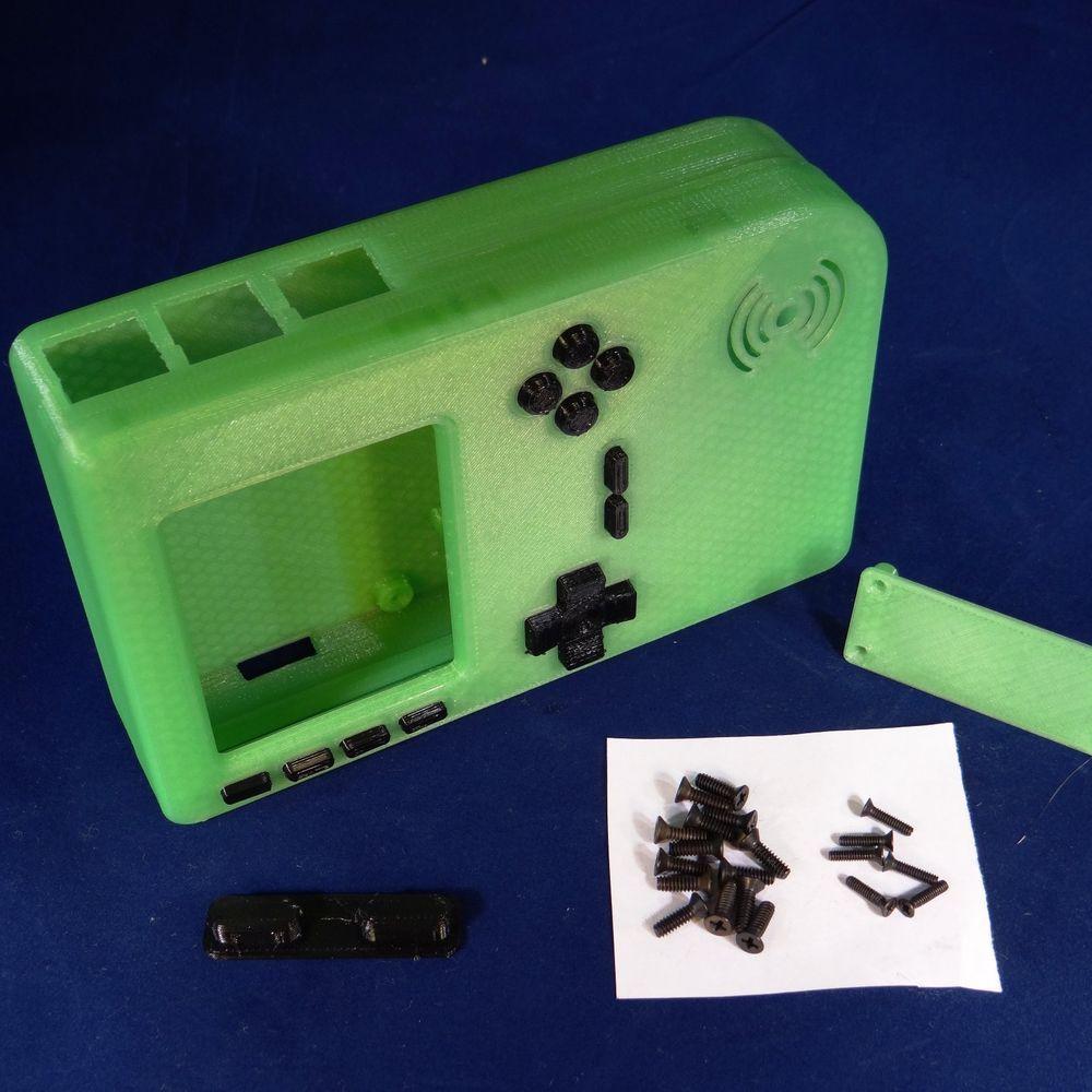 PiGRRL Zero WHITE Game Boy Case Buttons Screws Washers Gameboy Raspberry Pi Zero