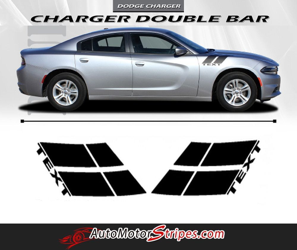 2015 2017 dodge charger double bar 15 hood hash marks mopar factory style vinyl graphics 3m stripes kit