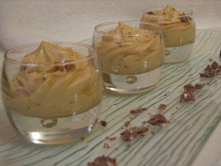 Mousse au dulce de leche truffée de toblerone