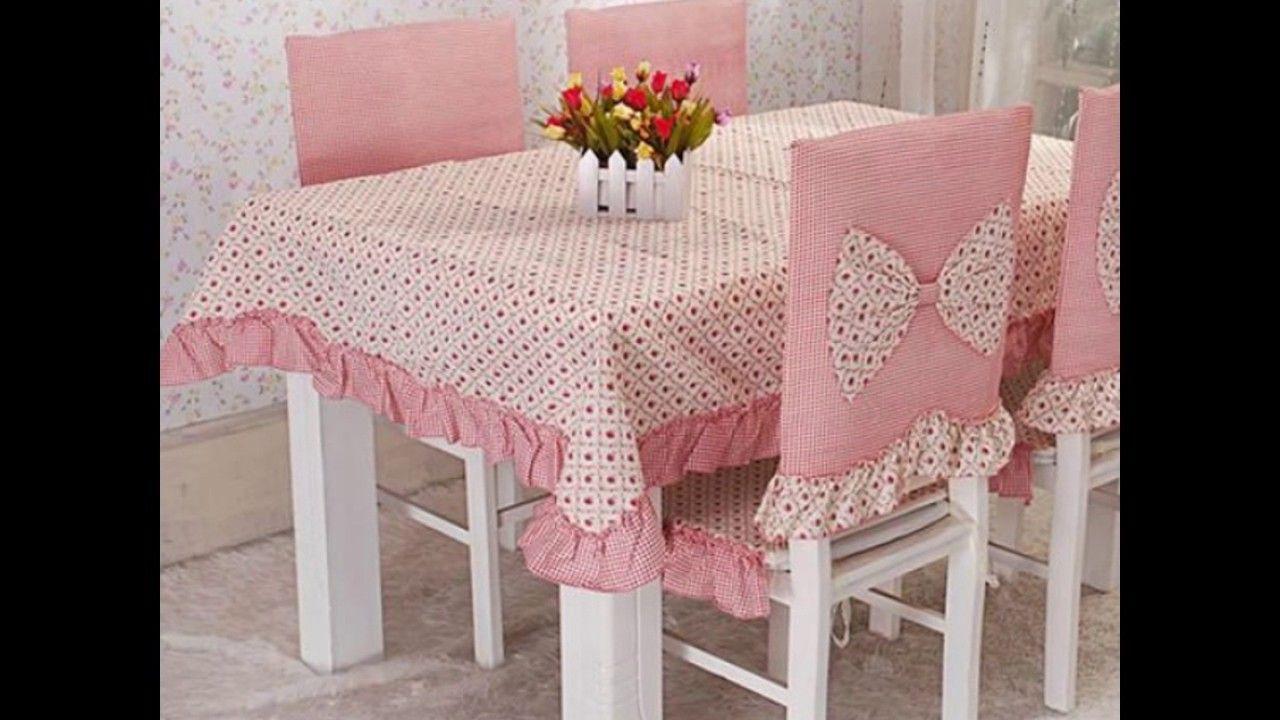 Hermosos manteles y forros para sillas de comedor for Juego de mesa y sillas para cocina