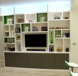 Made to measure shelving unit, SE10 | Alcoves | Pinterest | Tv ...