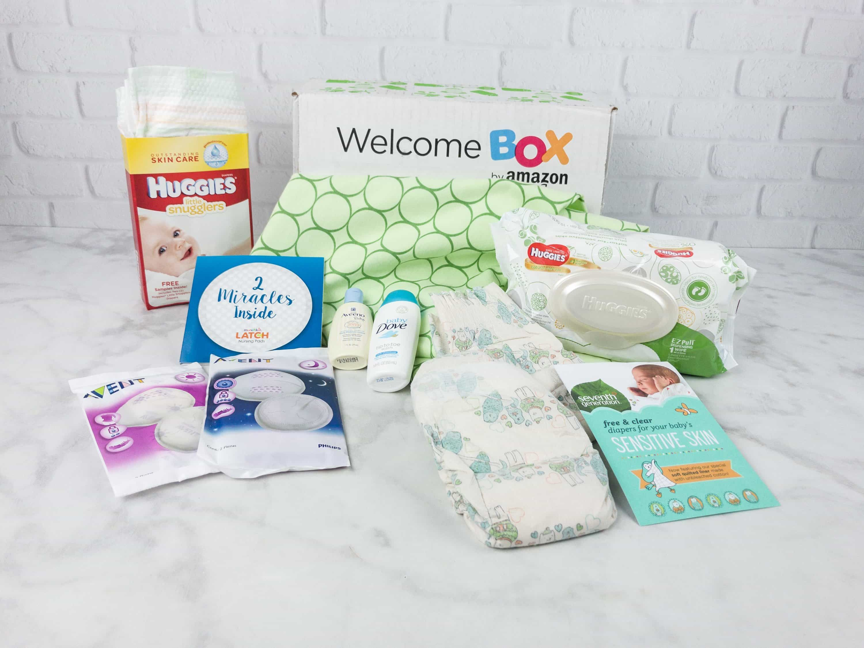 Amazon Baby Welcome Box Review  Hello Subscription Baby Registry