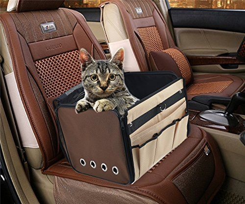 Cat Small Dog Booster Car Seat Carrier Travel Sling Bag For Tiny ...
