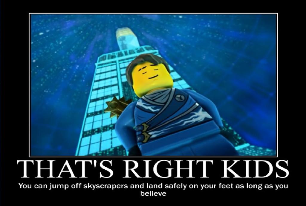 Thats Right Kids As Long As You Believe Ninjago Memes Ninjago Lego Memes